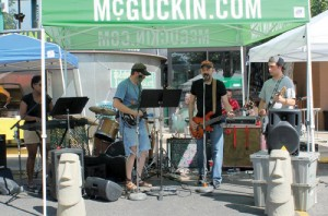 McGuckin Hardware hosts a tailgate party in its parking lot to interact with customers and feature the store's products.