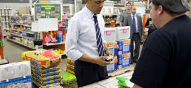 Final White House Photo Op for Gloves From Ohio Store