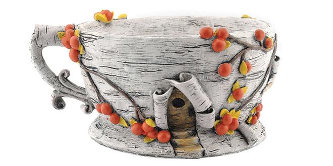 Teacup Fairy Garden Container
