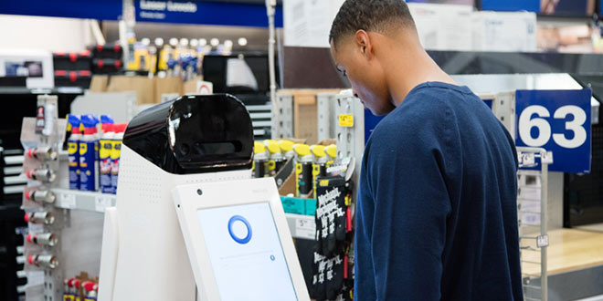 Retail service robots were