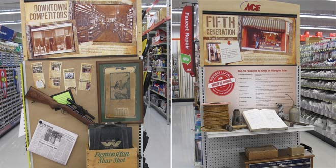 Endcaps Display A Century of History
