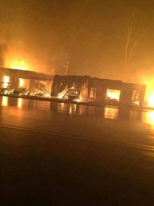 NAPA store fire