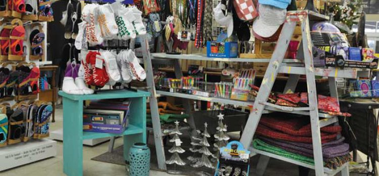 Repurposed Furniture Holds Store's Merchandise