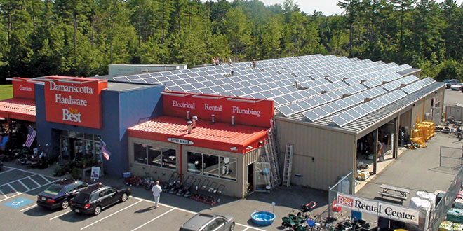 Maine Hardware Store Cuts Costs by Utilizing Solar Energy