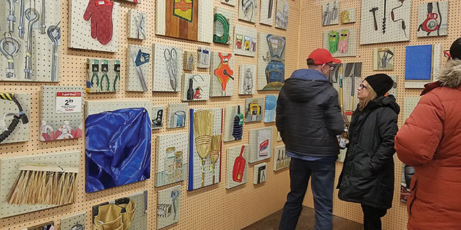 Local Art Showcased at Hardware Store