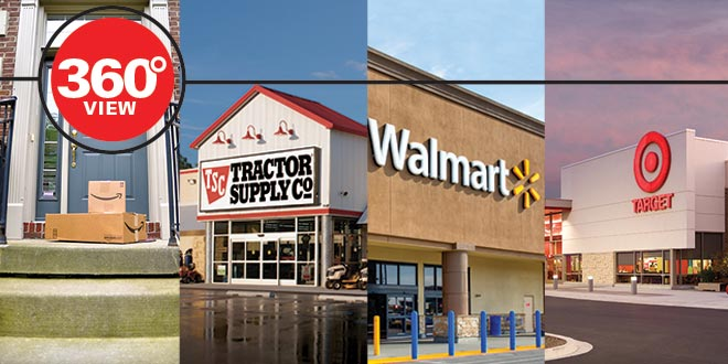 360-Degree Views: Amazon, Tractor Supply, Walmart and Target