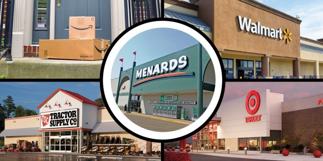 360-Degree Views: Amazon, Menards, Target, Tractor Supply and Walmart