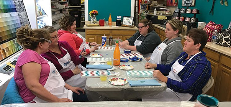 Craft Night Promotes Store's Offerings