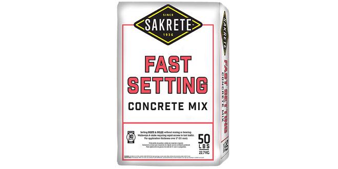 Fast-Setting Concrete Mix