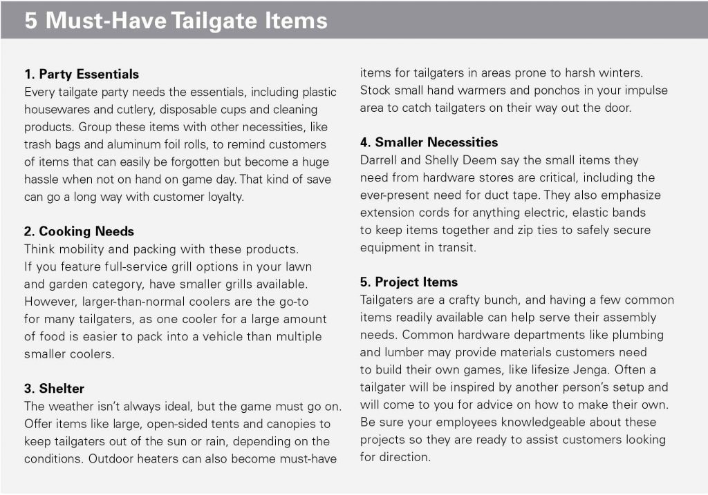 Tailgating Products