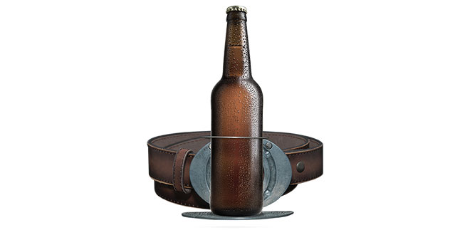 Belt Buckle Drink Holder
