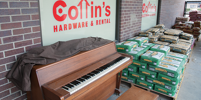 Customers Enjoy the Community Piano at Cottin's Hardware and Rental