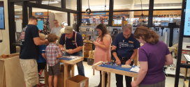 Woodworking Event Draws in Young Customers