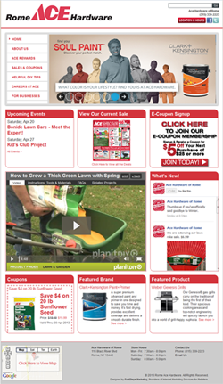 The staff at Rome Ace Hardware uses contests to drive traffic to its Facebook page.