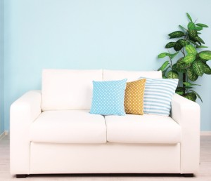 Blue is a trendy color this year as it adds brightness to a room and makes neutral shades stand out.