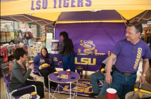 Goodwood Hardware & Outdoors has gained popularity with the LSU community. One way the family-owned business promotes its offerings is by attending tailgates with the store's products and talking about the store and its offerings.