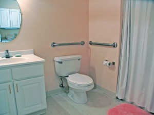 Grab bars are an easy addition homeowners should consider when tackling aging-in-place projects.