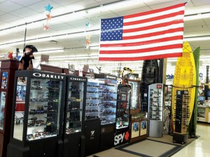 With its location is sunny Florida, Titusville Ace Hardware sells about $200,000 annually in sunglasses alone.