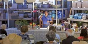 Steve Goto, Anawalt Lumber's outside tomato guru, leads the different seminars held during the store's annual Tomato Festival.