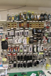 McGuckin Hardware is located in an active outdoor community, so heavy-duty phone cases from the Otterbox brand perform well.