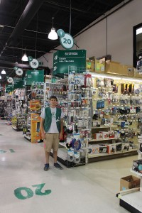 Caleb Booth is one of the many McGuckin Hardware employees that helps customers problem solve in this department.