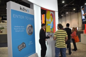 At the Kwikset booth, attendees were able to browse new products, like the latest version of the Kevo Touch-to-Open Smart Lock.