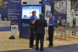 At the Lowe's ProServices booth, attendees were able to play a Las Vegas inspired slot machine game.