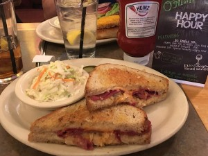 Renee Changnon, editor, enjoyed a corned beef sandwich in honor of St. Patty's Day.