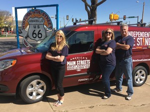 Renee Changnon, editor, and the Independent We Stand team at Historic 6th Street in Amarillo.