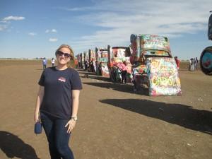 Renee Changnon, editor, explores Cadillac Ranch in Amarillo, Texas.
