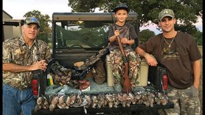 For Jimmy Harding (left), owner of Walker County Ace Hardware, hunting is a pastime he shares with his son Sean (right) and grandson Colten (center).