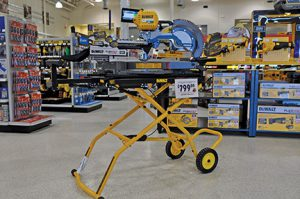 Peterson puts new items front and center on the salesfloor, and then follows it up with advertising. Some of the latest trends in cordless and battery technology have been generating a lot of attention from his customers.