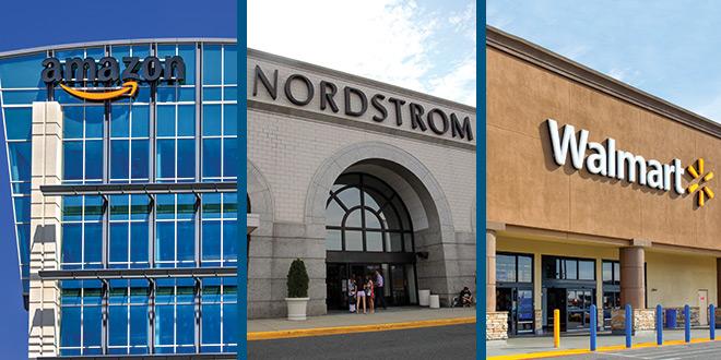 Amazon, Nordstrom and Walmart