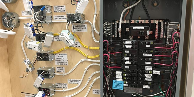 Displays show off the many connections in plumbing for Dunn lumber