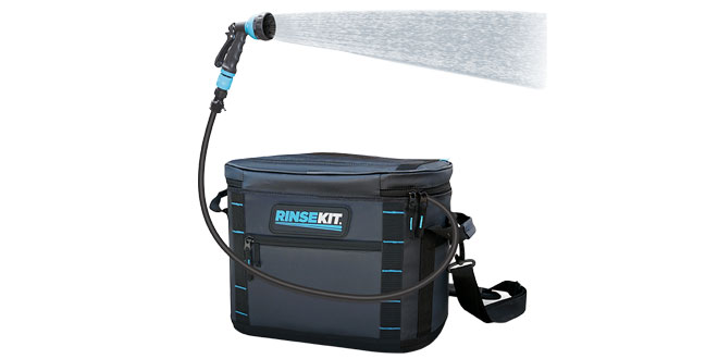 portable hose and shower