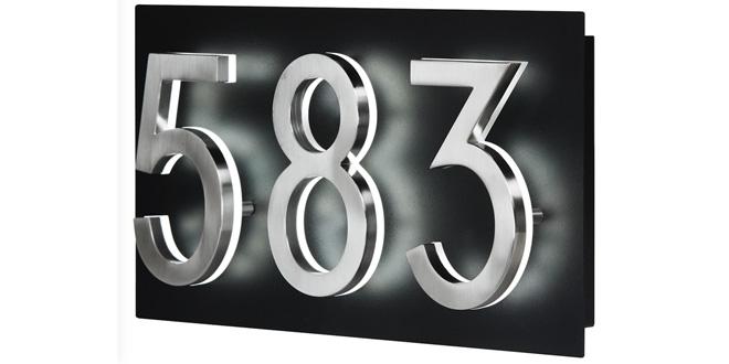 Backlit House Address Plaque