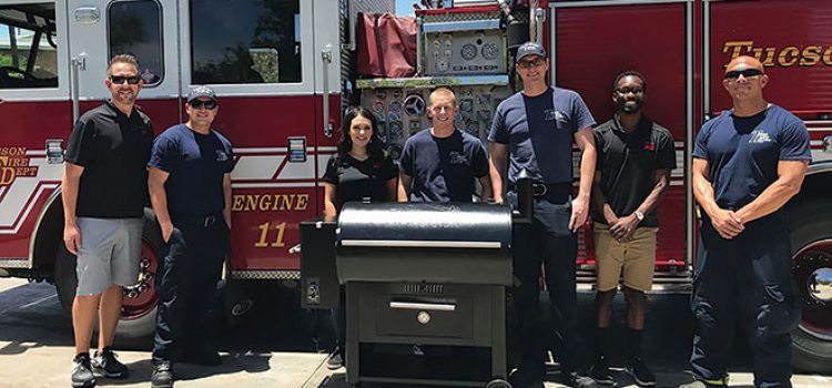 Donated Grills Make Flames for Firefighters