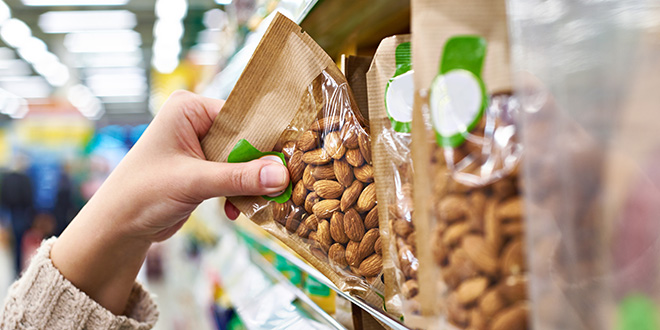 almonds snack aisle