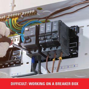 working on a breaker box