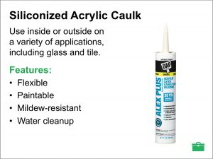 caulk and sealants