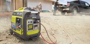 Inverter Generator at a job site