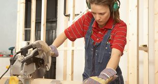 Woman using Circular Saw
