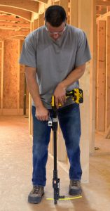 Man using a cordless screwdriver