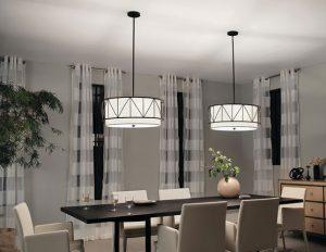 Kichler Birkleigh Pendent Lights in dining room