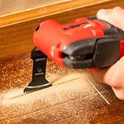 Wood cutting multitool blade