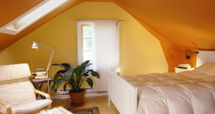 Bold Painted Attic Room