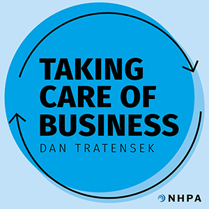 Taking Care of Business podcast logo