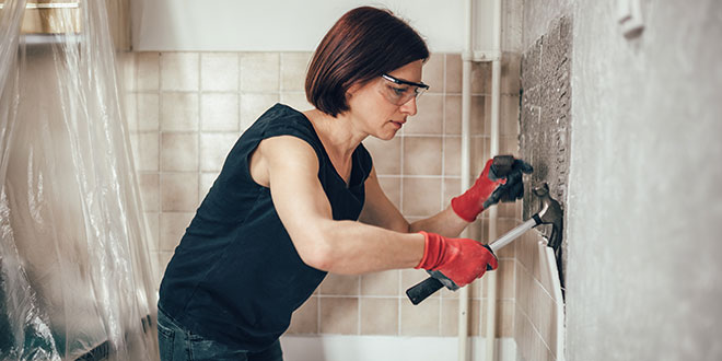 Woman Remodeling