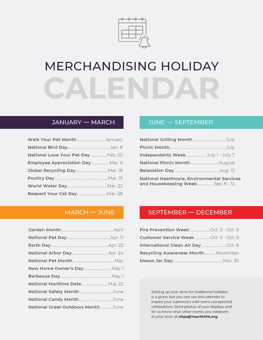 Merchandising Holiday Calendar