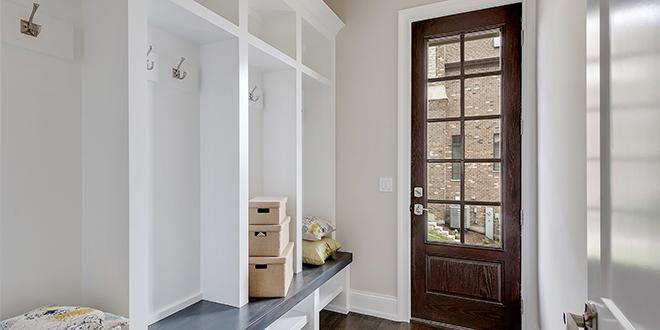 A mudroom door